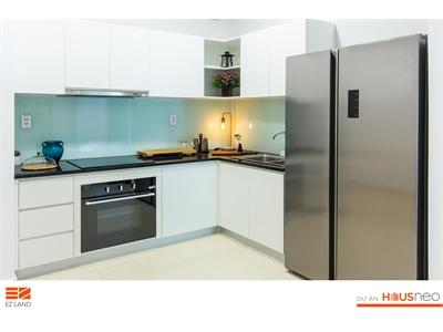 Căn hộ HausNeo được trang bị kính cường lực cho tất cả các bếp.