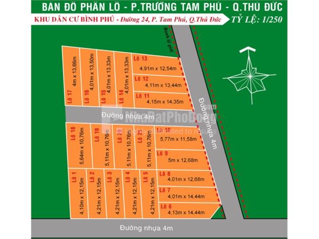 Bán đất nền khu dân cư Bình Phú Quận Thủ Đức | 1