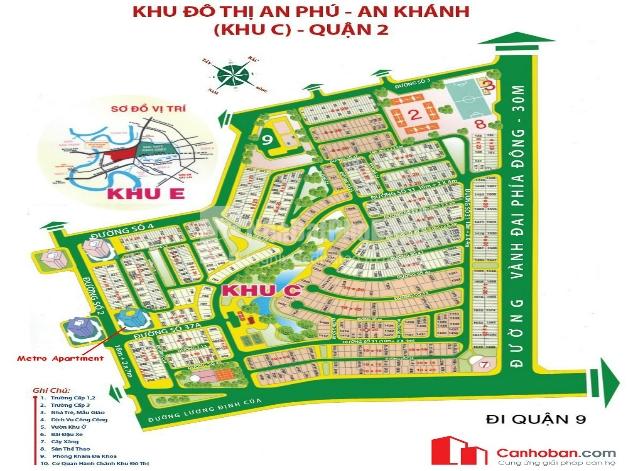 Bán đất  khu đô thị An Phú - An Khánh Khu C , Quận 2 | 1