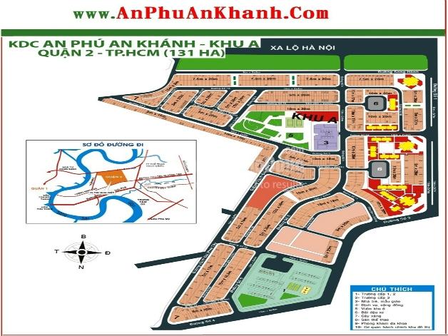 Bán đất biệt thự khu đô thị An Phú An Khánh khu A Quận 2 | 1