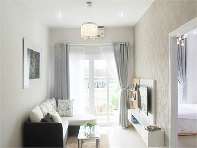 Cho thuê căn hộ 2PN đầy đủ nội thất chung cư Bộ Công An, Quận 2.